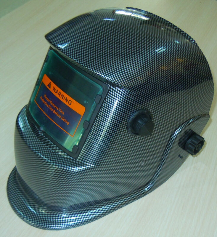 ACF Auto Darkening Welding Helmet Mask Grinding ANSI Tig Mig Arc Carbon Fiber#%
