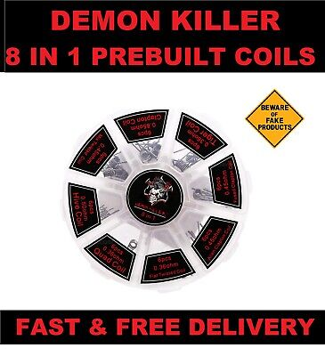Demon Killer 8 in 1, 48x Pre-Built Coils 100% Original With Free & Fast Dispatch