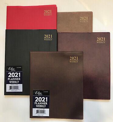 2021 Weekly Planner Calendar 8x10 Elite Appointment Book Organizer Agenda