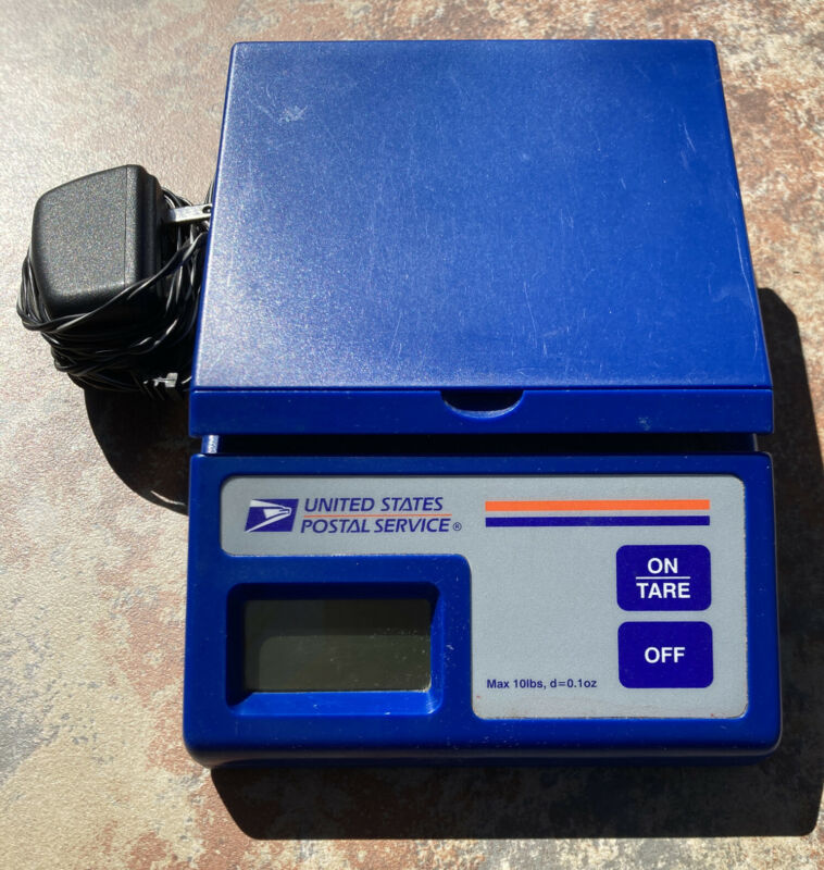 USPS Ten Pound Electronic Postal Commerce Scale Battery & AC Adapter Power 10 lb