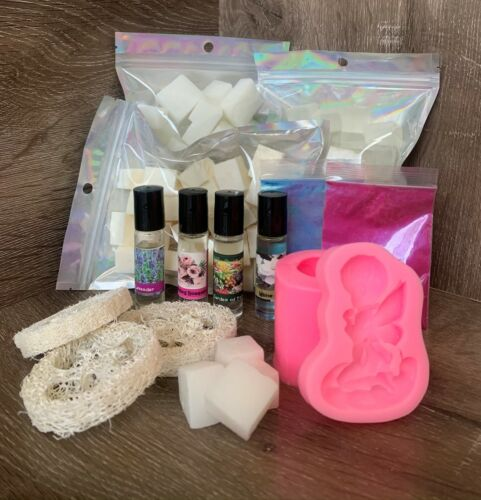 New! Soap Making Kit Organic Melt & Pour Goat Milk, Shea & Clear Base DIY Gift