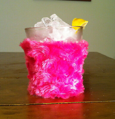 Beer Bottle Cozy (Beer,Cocktail,Bottle Koozie! Faux fur Snuggly & Cozy: Dark Pink)