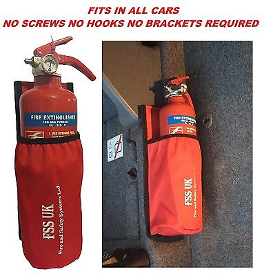 HOLDER ONLY-EASY INSTALL CAR VAN TAXI UNIVERSAL CAR HOLDER FOR FIRE EXTINGUISHER