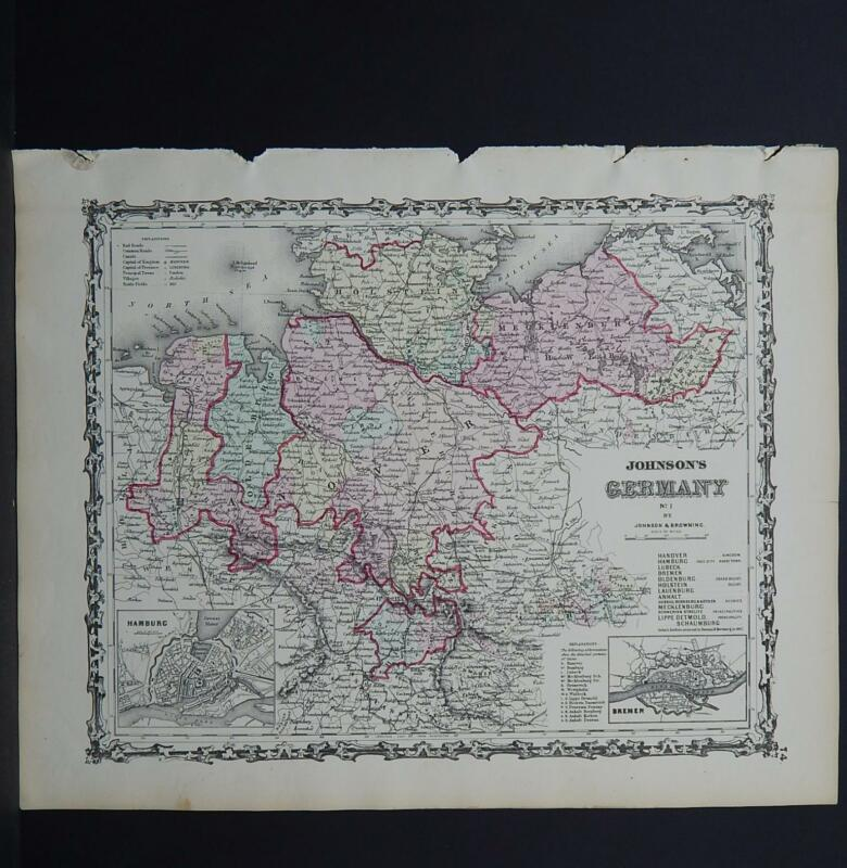 Antique Map Johnson