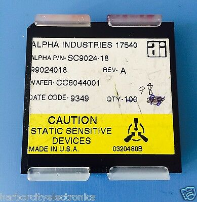 Sc9024-18 Alpha Industries Capacitor Chip Rf Microwave Product 98units Total