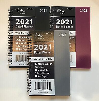 2021 Monthlyweekly Planner Organizer Agenda Appointment Book Spiral 5x8