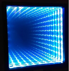 Infinity Mirror That Responds To Music With 20 Key Remote