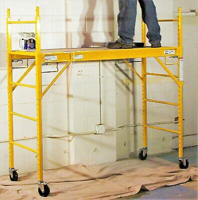 Pro Series 6 Ft Multipurpose Construction Scaffolding Outindoor Rolling Ladder