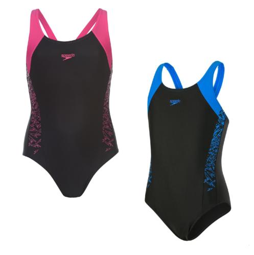 Speedo Boom Schwimmanzug Badeanzug Mädchen Kinder Schwimmen Bademode 3070