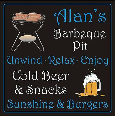 Personalised FUN BBQ SIGN GARDEN DECORATIVE sign plaque 12
