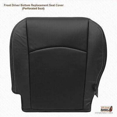 2011 Dodge Ram 2500 3500 Laramie -Driver Side Bottom Leather Seat Cover Dk Gray