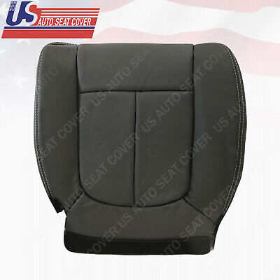 2012 2013 2014 Ford F150 Front Driver Bottom Black Perforated Leather Seat Cover Ford F150 Seat