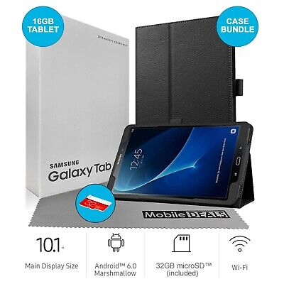 Samsung Galaxy Tab A SM-T580 10.1-Inch Touchscreen 16GB Tablet - Case Bundle