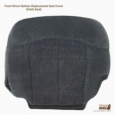 2001 2002 Chevy Silverado 2500 HD LS-Driver Side Bottom Cloth Seat Cover Dk Gray 2500 Hd Seat Cover