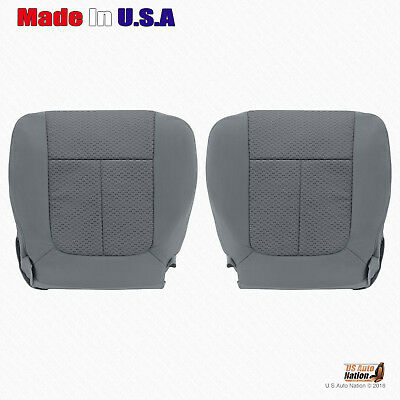2011 2012 2013 2014 Ford F150 Front Driver-Passenger Lower Cloth Seat Cover GRAY