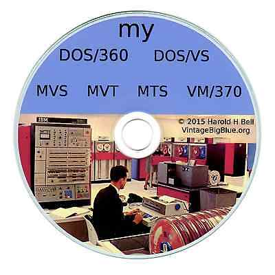 Ibm Mainframe Os On Pc Dos360 Dosvs Mvs Vm370 Mts Mvt  345 Sold   Fortran  Cobol
