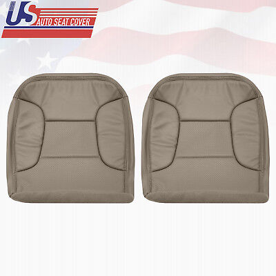 1992 92 Ford Bronco Drivers (1992~1996 Ford Bronco Driver Passenger Bottom Leatherette Seat Cover Perforated  )