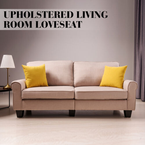 Loveseat 3 Seater Couch Futon Sofa Fabric Living Room Furnit