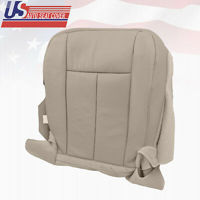 (2009 2010 Ford Expedition Passenger Bottom Perforated Leather Seat Cover Gray)