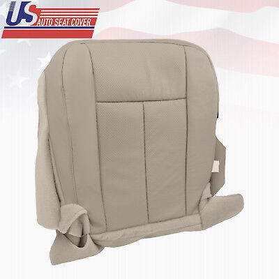 (2011 2012 Ford Expedition XLT Driver Bottom Perforated Leather Seat Cover Gray)