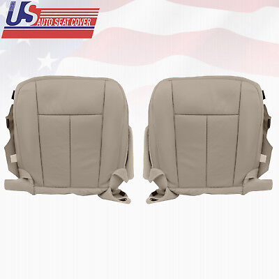 (2011 2012 Ford Expedition Driver and Passenger Bottom Leather Seat Cover Gray)