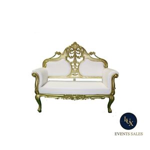 GOLD SILVER WHITE SOFA SETS FOR RENT