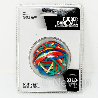 Assorted Colors Rubber Band Ball 3-14 X 18 Approx 0.33 Lb