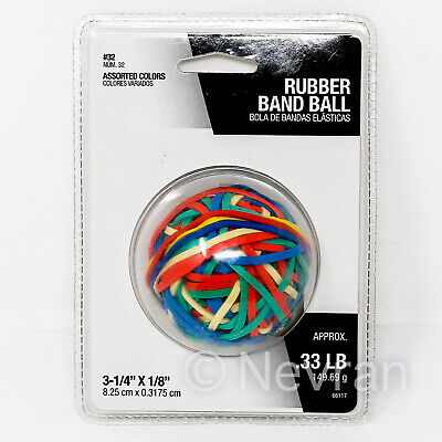 Assorted Colors Rubber Band Ball 3-1/4