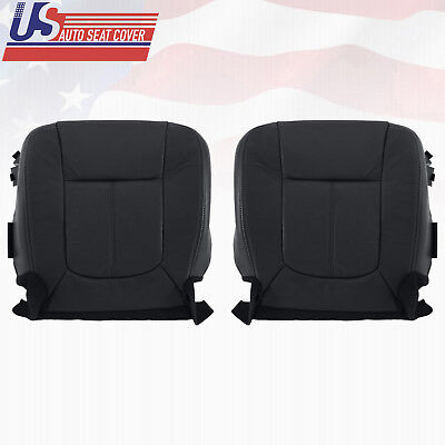 2013 2014 Ford F250 F350 Lariat Driver-Passenger Bottom Leather Seat Cover Black