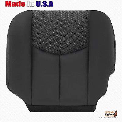 2003 2004 Chevy Avalanche Driver Side Bottom Leather/Cloth Seat Cover Dark Gray