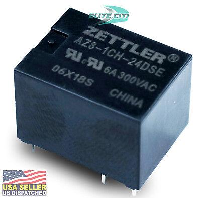 Zettler Pcb Relay 24vdc Miniature Sealed Spdt 6a300vac Az8-1ch-24dse New