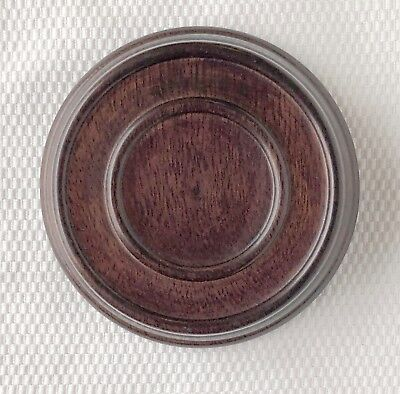 "3.25"" Brown Chinese Oriental Wooden Lid Cap Cover for Ginger Jar and Vases - Oriental Vases"