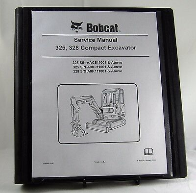 Bobcat 325 328 Compact Excavator Service Manual 6986940