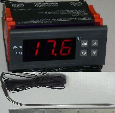 Temp Controller Thermostat Charcoal Burning Bbq Grill Pit Smoker Cajun L Sensor