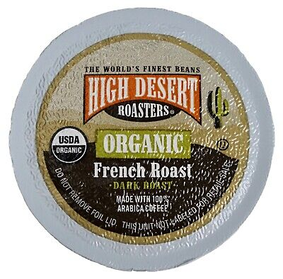 - High Desert Roasters USDA Organic French Roast Coffee, Keurig K-Cup Pods