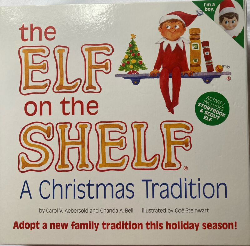 Elf on the Shelf A Christmas Tradition Boy Doll with Blue Eyes & Hardcover Book