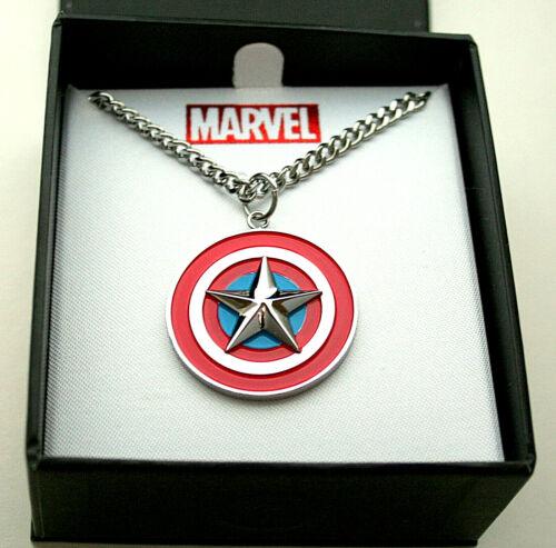 Marvel Comics Captain America Shield Necklace Pendant New Box Men