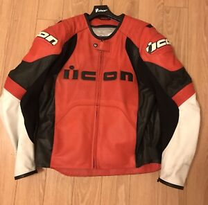 ICON OVERLORD LEATHER JACKET XL
