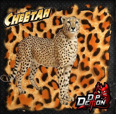 Cheetah Spots W Transparent Background Hydrographic Water Transfer Film Hydro