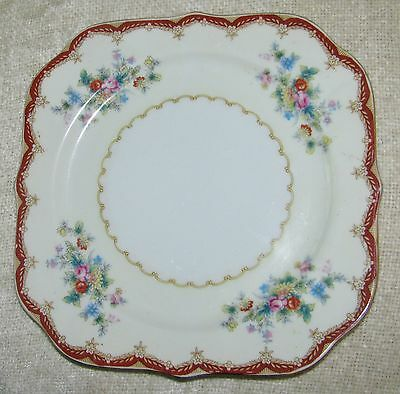 - Versailles China (Japan) VE3 Ivory Floral w/ Red Band Gold Trim SALAD PLATE