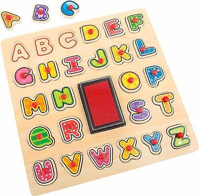 Buchstaben Puzzle als Stempel Spiel Lesen Schreiben lernen Vorschule Stempel NEU