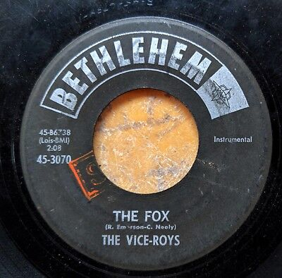 Used, MOD BEAT R&B POPCORN INSTRUMENTAL 45: THE VICE-ROYS Buzz-Bomb/The Fox BETHLEHEM  for sale  Kansas City