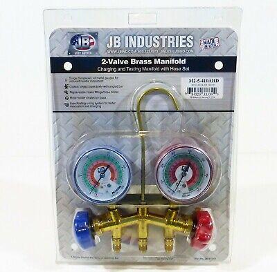 Jb Industries 2-valve Brass Manifold Gauge Set M2-5-410a-hd R22r404ar410a New