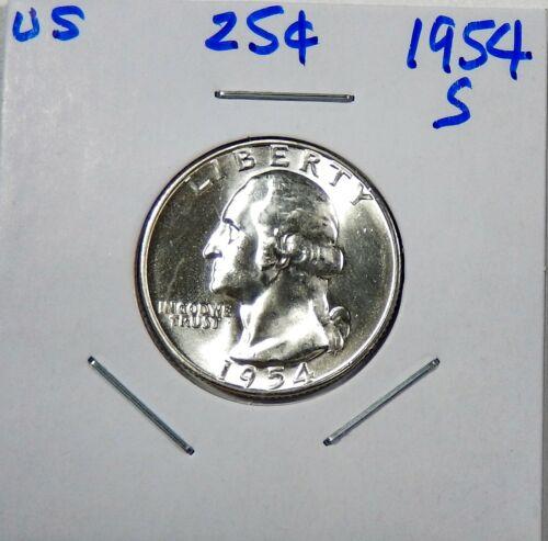 1954-S Silver Washington  Quarter Uncirculated