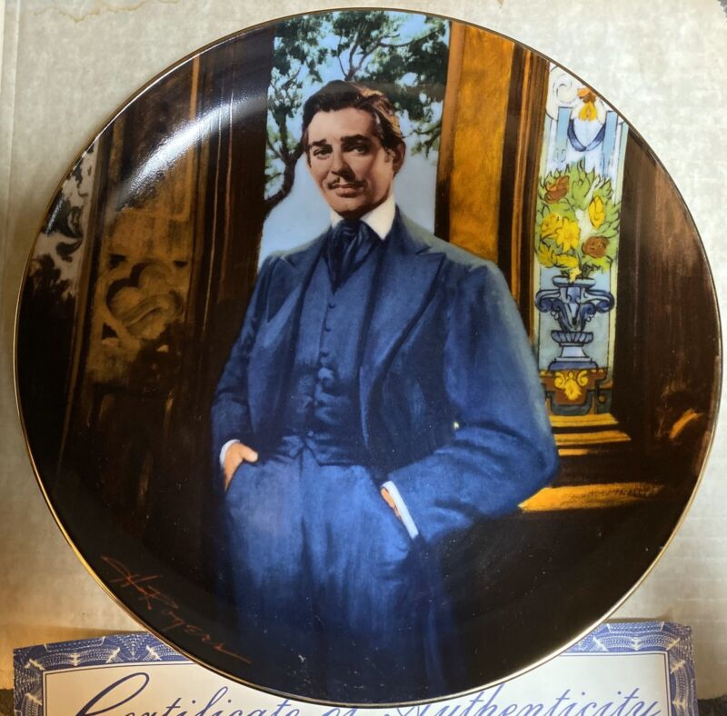 """Gone With the Wind """"Frankly, My Dear"""" Collector Plate Bradford Exchange 1989"""