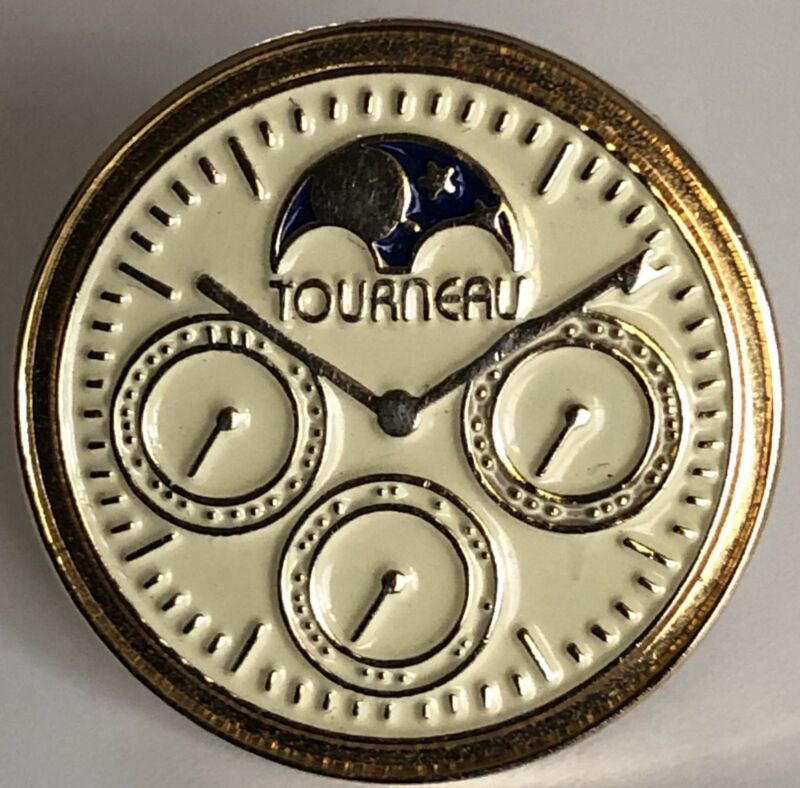 Tourneau Lapel Pin -Chronograph Moonphase Watch-