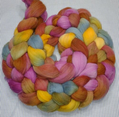 Fine Wool Combed Top Roving Spinning Handpainted Dyed Felt USA NWT Seraphim 6.1