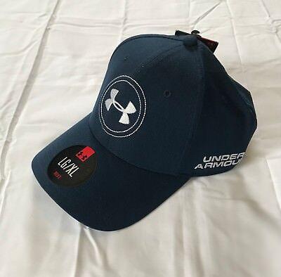 da9c1c489de New Under Armour Stretch fit Golf Hat size L/XL blue white UA Jordan Spieth  flex