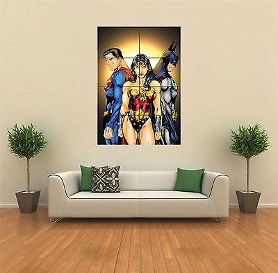 SUPERMAN, WONDER WOMAN, BATMAN NEW GIANT ART PRINT POSTER PICTURE WALL G483