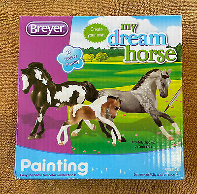 BREYER Stablemates My Dream Horse Paint Kit Horse Family Stallion Mare Foal NEW!